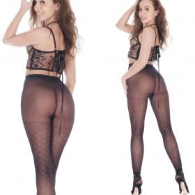 Orirose, włoskie, sexy rajstopy damskie z subtelnym wzorem, lycra 40den