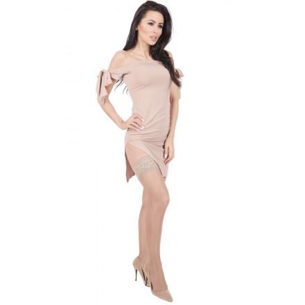 Rajstopy przeciwżylakowe dla kobiet w ciąży z panelem ze stopniowanym uciskiem mmHg 18/22 hPa 24/29