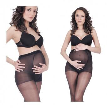 Rajstopy ciążowe z panelem LYCRA 20den