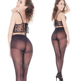 Orirose, włoskie, sexy rajstopy damskie z subtelnym wzorem, lycra 20den