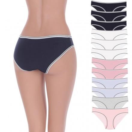 12 szt. FIGI, majtki bawełniane damskie kolory